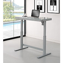 glass desk for office. Omni Adjustable Height Glass Top Desk - 47.25\ For Office E