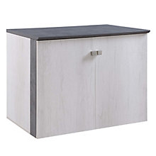 Allure Storage Cabinet with Wood Doors, 8828434