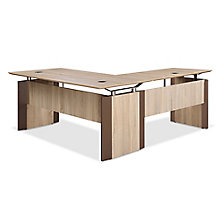 "Allure Executive L-Desk - 66""W x 78""D, 8828429"