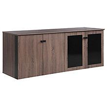 "Allure 72""W x 29.5""H Low Wall Cabinet with Glass and Wood Doors, 8828435"