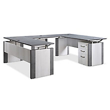 "Diamond Executive U-Desk with Storage - 72""W x 102""D , 8828353"