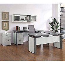 Allure U-Desk Office Suite with Center Drawer , 8828448