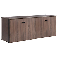 "Allure 72""W x 29.5""H Low Wall Cabinet with Wood Doors, 8828449"