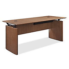 "Diamond Executive Desk with Center Drawer - 66""W x 30""D, 8828343"