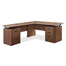 "Diamond Executive L-Desk with Storage - 66""W x 78""D, 8828352"