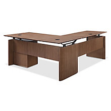"""Diamond Executive L-Desk with Two Bookcases - 66""""W x 78""""D, 8828363"""