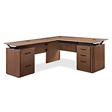 "Summit Executive Reversible L-Desk - 72""W x 72""D, 8828374"