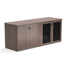 "Diamond 72""W x 29.5""H Low Wall Cabinet with Glass and Wood Doors, 8828357"
