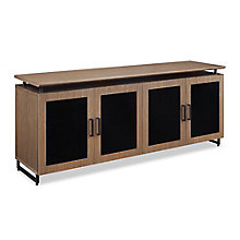 "Summit 72""W Low Wall Glass Door Cabinet, 8828370"