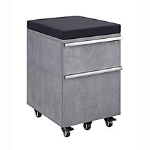 District Two-Drawer Mobile Pedestal with Cushion, 8829024