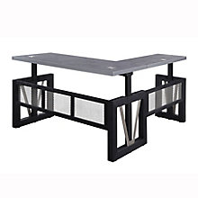 "District Reversible Height-Adjustable L-Desk - 72""W, 8829068"