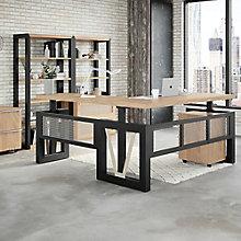 District Height-Adjustable L-Desk Set, 8829054