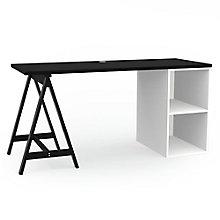 "Maker Sawhorse Leg and Open Storage Desk - 60""W, 8828963"