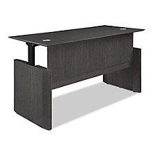 """Height Adjustable Wood Veneer Desk 72""""W x 30""""D, 8828486"""