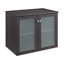 "Diamond 36""W x 29.5""H Low Wall Glass Door Cabinet, 8828487"
