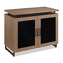 "Summit 6""W Storage Cabinet with Glass Doors, 8828329"