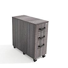Forge Three-Drawer Mobile Pedestal Storage Cabinet, 8828547