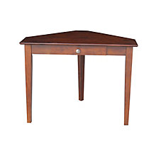 "Compact Corner Writing Desk with Center Drawer - 40""W, 8812983"