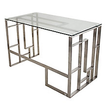 "Mandarin Glass Top Desk - 47.25""W, 8804936"