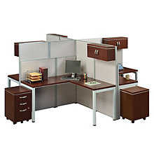 Instant Office Four Person L-Desk Station, 8803425
