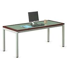 "Glass Top Desk 72""W, 8803884"