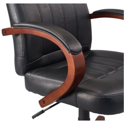 Close up of armrest in Black