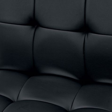 Close Up View of Black Upholstery