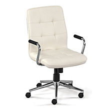 Demi Petite Quilted Task Chair in Faux Leather , 8801506