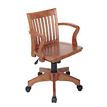 Fruitwood Finish Bankers Chair, OFF-105FW