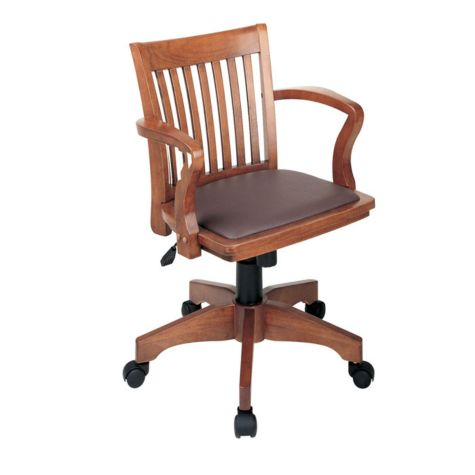 Shown in brown vinyl and fruitwood