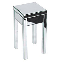 Reflections Mirror Plated End Table, OFF-10941