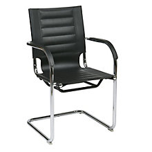 Trinidad Modern Vinyl Guest Chair, OFF-10943
