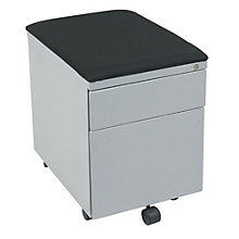 Mobile Pedestal with Fabric Seat Top, OFF-10945