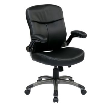 Flip Arm Computer Chair In Bonded Leather Officefurniture Com