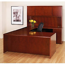 U-Desk with Bow Top and Hutch, 8827158