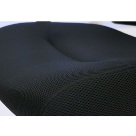 Close up of mesh fabric seat