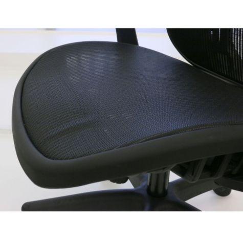 Close up of mesh seat