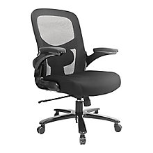 Big and Tall Mesh Back Chair With Flip Arms, 8808071