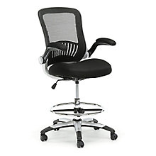 Mesh Drafting Stool With Flip Arms, 8808145
