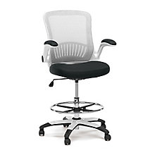 Mesh Drafting Stool With Flip Arms, 8808146