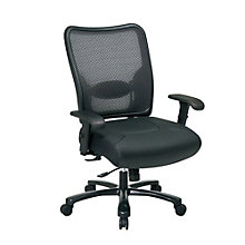 Big & Tall Eco Mesh Back Leather Chair, 8801512