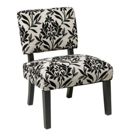 Jasmine Armless Accent Chair In Fabric 8801770