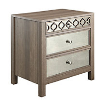 Helena Mirror Accented Three Drawer Storage Cabinet, 8801787