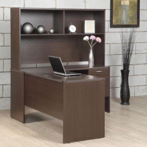 Lodi L Desk With Hutch 60w 8801795 Officefurniture Com