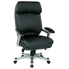 WorkSmart Ergonomic Executive Chair in Faux Leather, 8802338