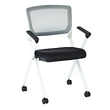 Space Fabric or Mesh White Frame Nesting Chair, 8814018
