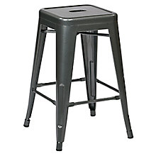 "Patterson Metal Backless Counter Height Stool - 24""H, 8802520"