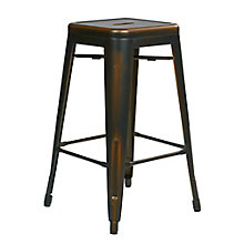 "Bristow Distressed Metal Barstool - 26""H, 8803132"
