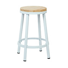 WorkSmart Distressed Metal Barstool, 8803138