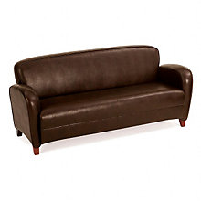 Faux Leather Reception Sofa, 8828524